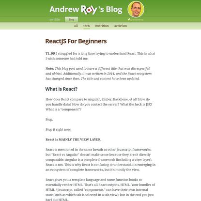 ReactJS For Beginners