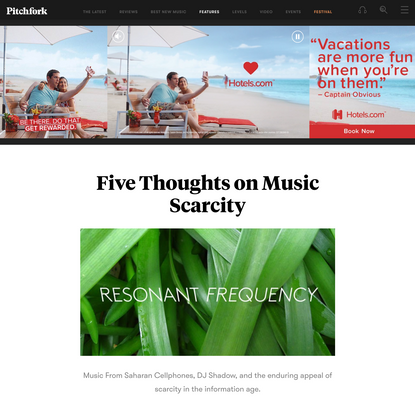Five Thoughts on Music Scarcity