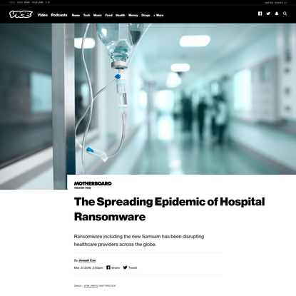 The Spreading Epidemic of Hospital Ransomware