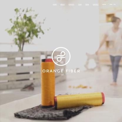 Innovative yarns: Orange Fiber