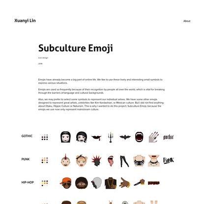 Xuanyi Lin - Subculture Emoji