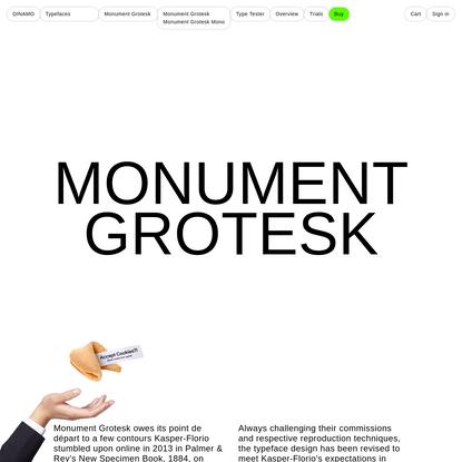 Monument Grotesk