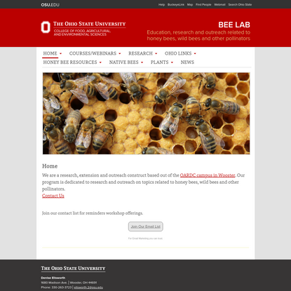 Bee Lab   Education, research and outreach related to honey bees, wild bees and other pollinators