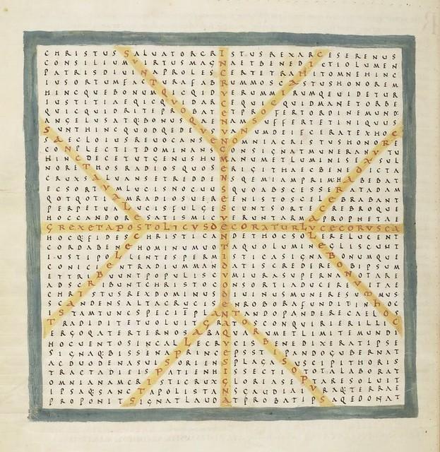 medieval pattern poems - rabanus maurus **