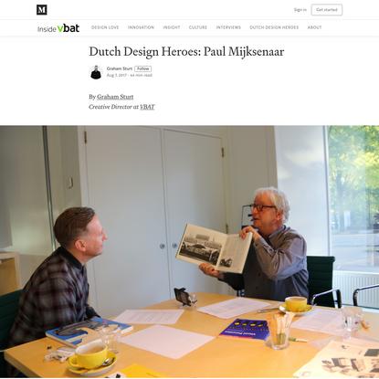 Dutch Design Heroes: Paul Mijksenaar