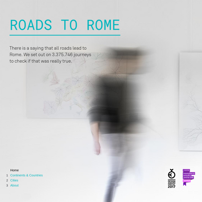 ROADS TO ROME - Continents & Countries