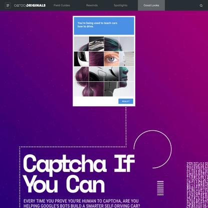 Is reCaptcha Training Robocars?
