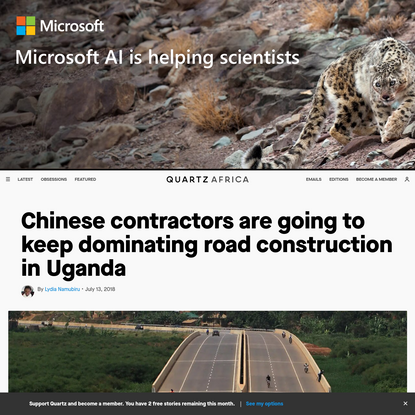 Chinese contractors are going to keep dominating road construction in Uganda
