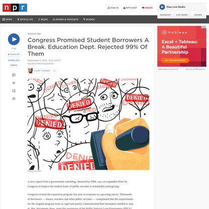 Congress Promised Student Borrowers A Break - Then Ed Dept. Rejected 99% Of Them