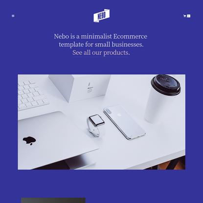 Nebo - Webflow Ecommerce website template