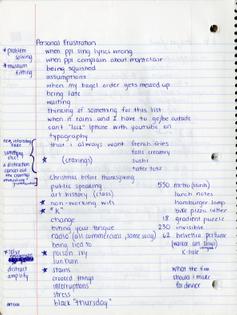 Frustration List