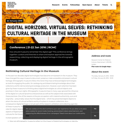 Digital Horizons, Virtual Selves: Rethinking Cultural Heritage in the Museum