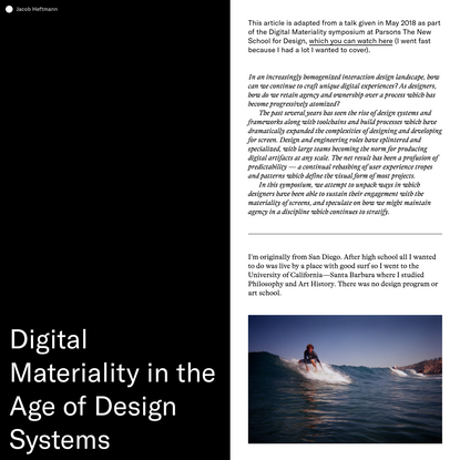 Digital Materiality in the Age of Design Systems