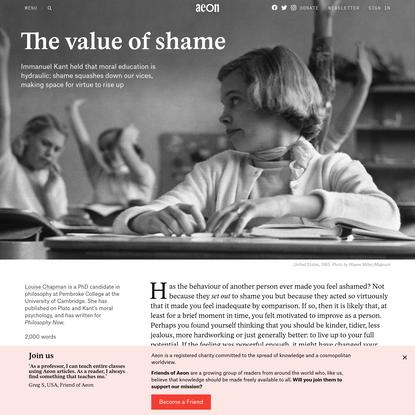 The value of shame