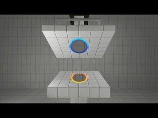 Crushed between two portals experiment