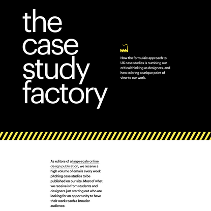 The case study factory