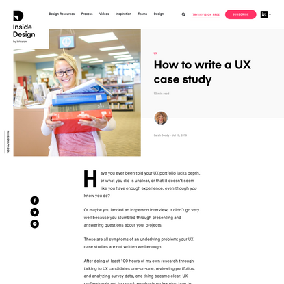 How to write a UX case study | Inside Design Blog
