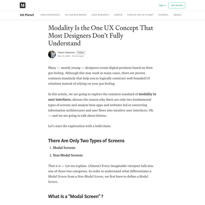 Modality Is the One UX Concept That Most Designers Don't Fully Understand
