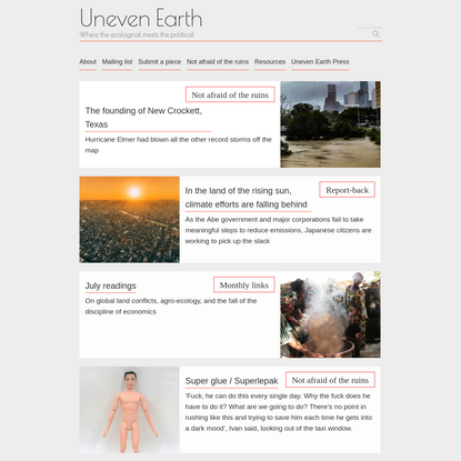 Uneven Earth