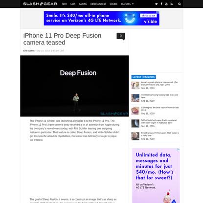 iPhone 11 Pro Deep Fusion camera teased