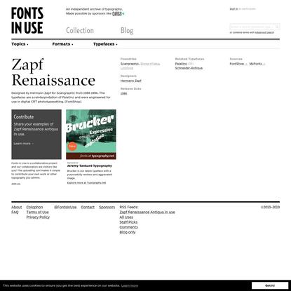 Zapf Renaissance Antiqua in use
