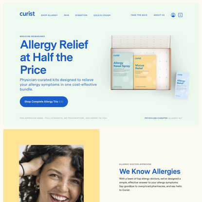 Curist | Allergy Relief at Half the Price