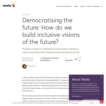 Democratising the future: How do we build inclusive visions of the future?