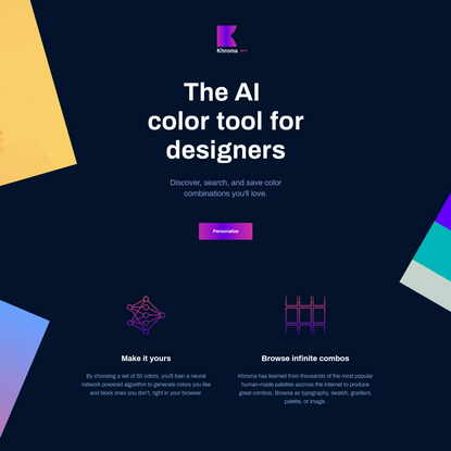 The AI color tool for designers