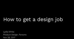 How to get a design job