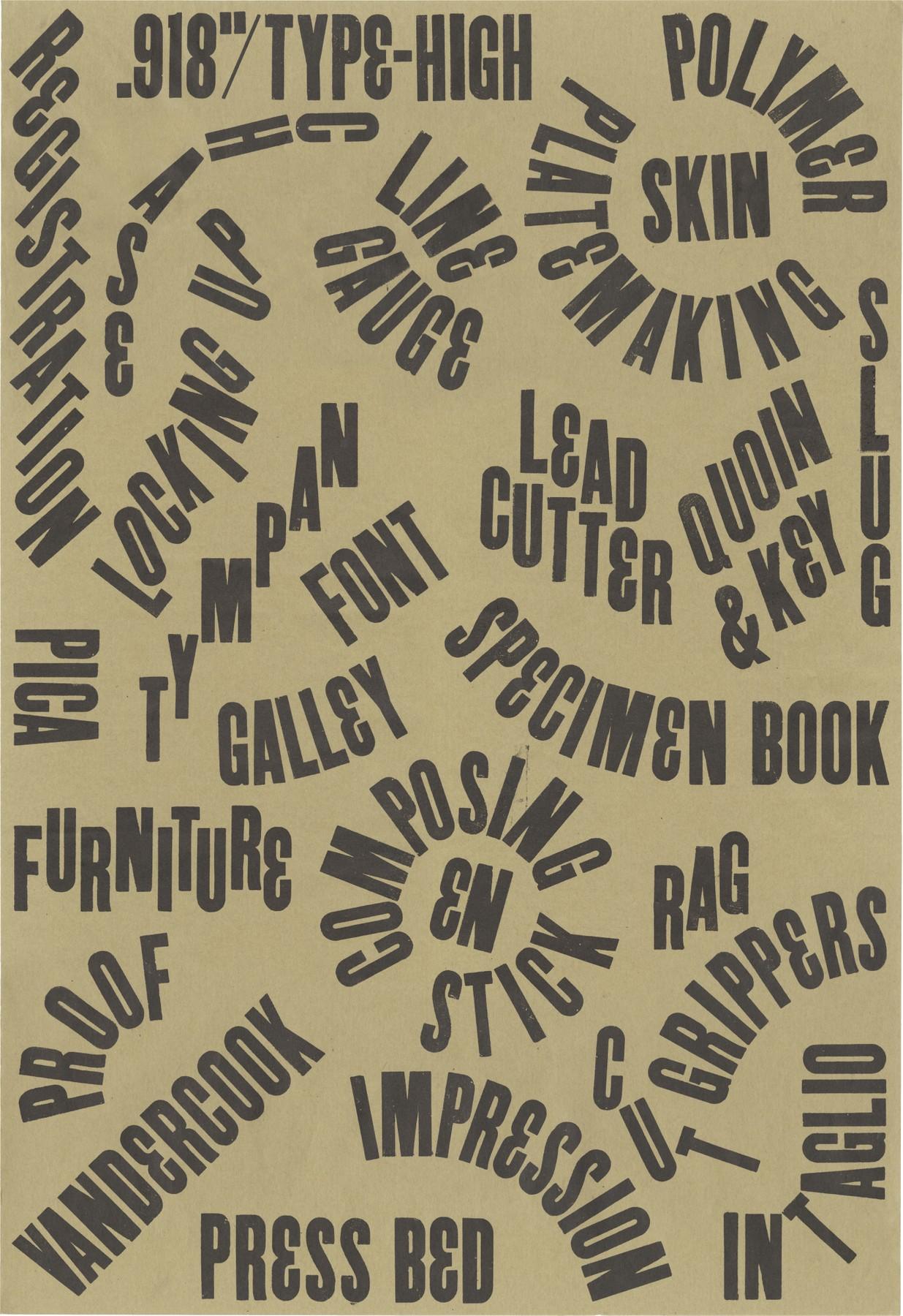 Letterpress Printing Poster