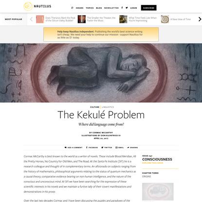 The Kekulé Problem - Issue 47: Consciousness - Nautilus