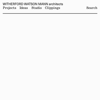 Witherford Watson Mann architects