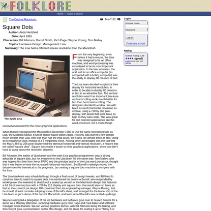 Folklore.org: Square Dots