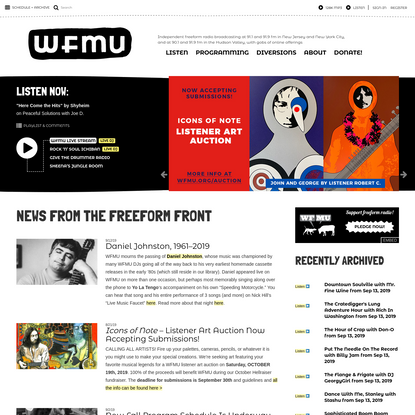 WFMU-FM 91.1/Jersey City, NJ; 90.1/Hudson Valley, NY - We're an independent freeform station broadcasting at 91.1 fm in New ...