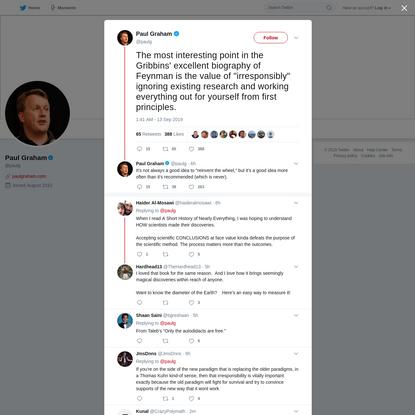 Paul Graham on Twitter