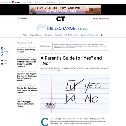 """A Parent's Guide to """"Yes"""" and """"No"""""""
