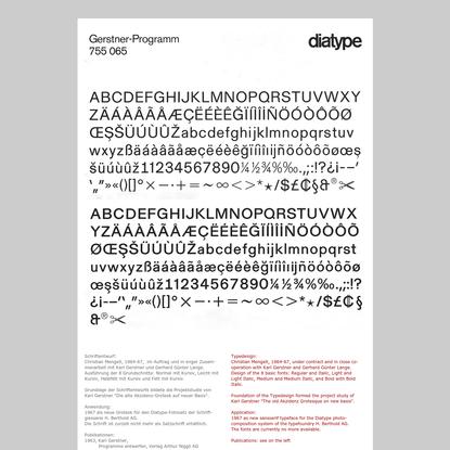 Gret und Christian Mengelt - Schriftgestaltung/Typedesign