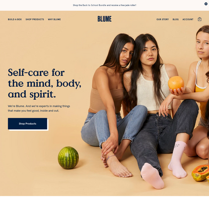 Blume | Self Care and Period Products Inspired By You