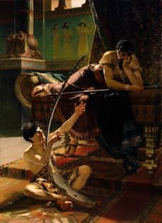 Julius Kronberg. David and Saul. 1885.