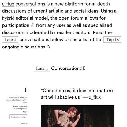 e-flux conversations
