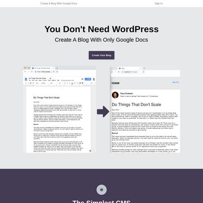 You Don't Need WordPress: Create A Blog With Google Docs