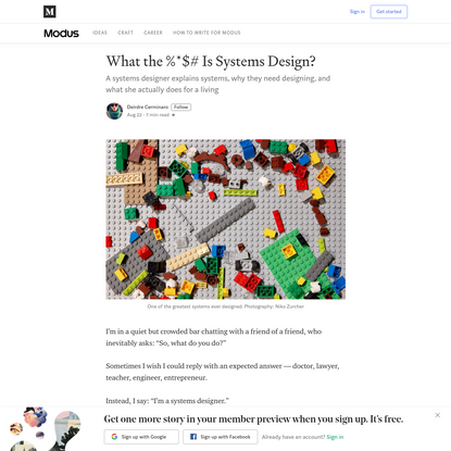 What the %*$# Is Systems Design?