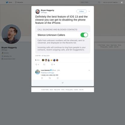 Bryan Haggerty on Twitter