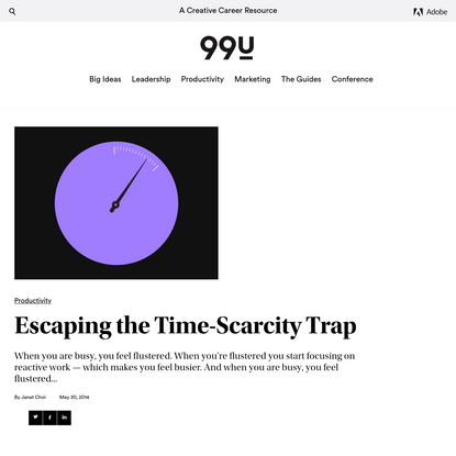 Escaping the Time-Scarcity Trap