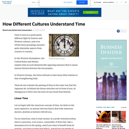 How Different Cultures Understand Time