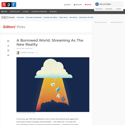 A Borrowed World: Streaming As The New Reality