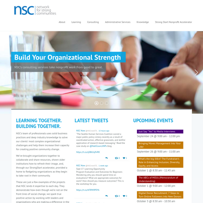 NSC Now - Network for strong communities