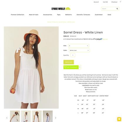 Sorrel Dress - White Linen – Lykke Wullf