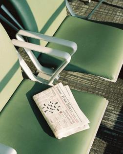 Decoration | Chair | Green | Journal | Newspaper | Modern | Wait | Queue | Retro | Colour | tumblr_pugpd4w5iq1qabu3po1_1280.jpg