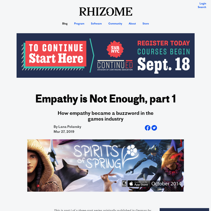 Empathy is Not Enough, part 1